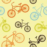 Bicycle seamless pattern Stock Photo