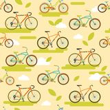 Bicycle seamless pattern Stock Photo