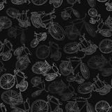 Bicycle seamless Stock Images