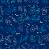 Bicycle seamless Royalty Free Stock Images