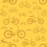 Bicycle seamless pattern Stock Photos