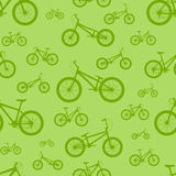 Bicycle seamless pattern. On a colored background stock illustration