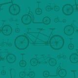 Bicycle seamless pattern Royalty Free Stock Photo