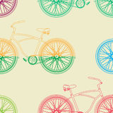 Bicycle seamless pattern Stock Images