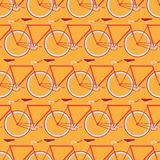 Bicycle seamless pattern Stock Photography