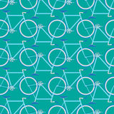 Bicycle seamless pattern. On a colored background royalty free illustration