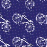 Bicycle seamless pattern on a colored background Royalty Free Stock Photography