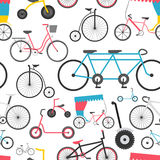 Bicycle seamless pattern. Colour flat design.  Royalty Free Stock Image
