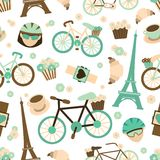 Bicycle seamless pattern Royalty Free Stock Photography