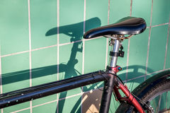 Bicycle seat and shadows Royalty Free Stock Image