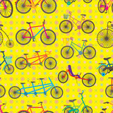 Bicycle Set Seamless Pattern Stock Photography