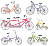 Bicycle set Royalty Free Stock Images