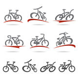 Bicycle set. Vector. Cycle, tricycle, city Royalty Free Stock Image