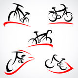 Bicycle set. Vector Stock Image