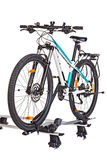 Bicycle setting with Roof Mounted Bike Carriers. Stock Images
