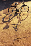 Bicycle with shadow Royalty Free Stock Photography