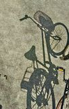 Bicycle  shadow Royalty Free Stock Photos