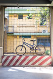 bicycle with shadow Stock Photography