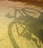 Bicycle shadow Royalty Free Stock Photography