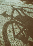 Bicycle shadow Royalty Free Stock Images