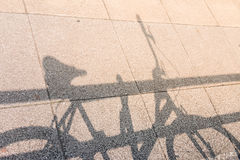 Bicycle Shadow. On Rock Street Stock Images