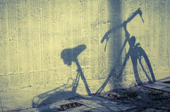 Bicycle shadow Stock Photo
