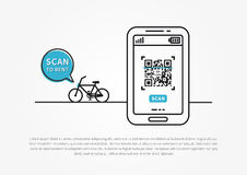 Bicycle sharing and renting vector illustration Royalty Free Stock Photos