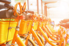 Bicycle sharing station in China Stock Images