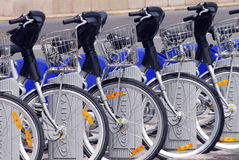 Bicycle sharing system Royalty Free Stock Photo