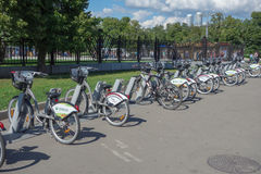Bicycle sharing system in Moscow Royalty Free Stock Photos