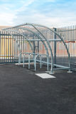 Bicycle Shelter and Racks Royalty Free Stock Image