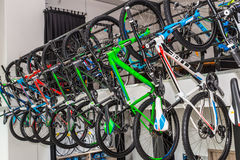 Bicycle shop. Detail of  bicycle in shop Royalty Free Stock Image