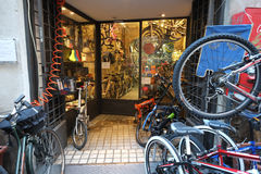 Bicycle shop Stock Photo