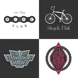 Bicycle shop, rent a bike, bicycle repair set of vector logo, icon Stock Photos