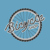 Bicycle shop template vector logo Royalty Free Stock Photography