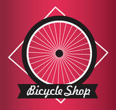 Bicycle Shop Vector Logo Design - Bicycling Concept - Biking Concept - Royalty Free Stock Image