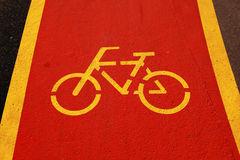 Bicycle sign Royalty Free Stock Photos