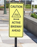Bicycle Sign. Stock Photography
