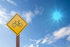Bicycle sign. Royalty Free Stock Photos