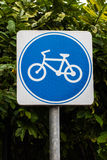 Bicycle sign Stock Photography