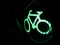 Bicycle sign. (traffic light Royalty Free Stock Photography