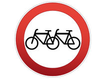 Bicycle sign. Its a double bicycle sign Royalty Free Stock Images