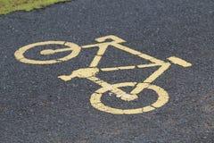 Bicycle sign, Bicycle Lane Royalty Free Stock Images