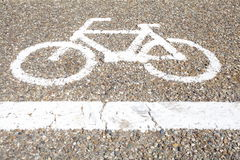 Bicycle sign, Bicycle Lane Royalty Free Stock Photography