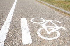 Bicycle sign, Bicycle Lane Royalty Free Stock Photos