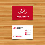 Bicycle sign icon. Eco delivery. Stock Photos