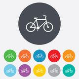 Bicycle sign icon. Eco delivery. Stock Images