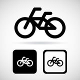 Bicycle sign and icon, vector illustration Stock Images