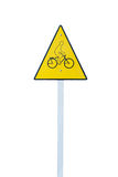 Bicycle sign Royalty Free Stock Photo