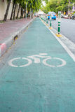Bicycle sign, Lane for bicycle.  Stock Photos